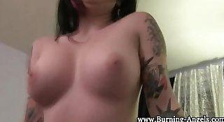 Emo whore sucks fat cock