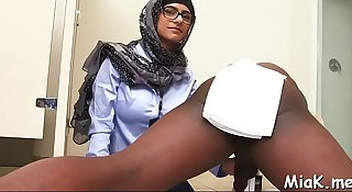 Breasty arab floozy enjoys pussy-licking