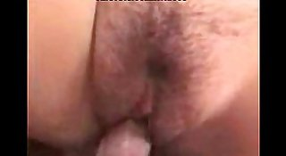 Busty girl with hairy pussy fucking