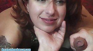 Redhead MILF is an amazing Lapdancer!